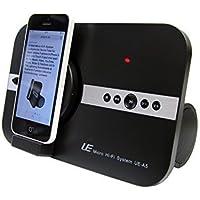 10 Watt Micro Hi-Fi System Sound Tube für Apple iphone X iphone SE 5 5S 6 6S iphone 7 8 Plus ipod Touch 5 6 7 iPad Pro ipad mini ipad Air für Musik Video Skype mit 8-PIN Lightning Schnittstelle & Bluetooth Funktion Lautsprecher Soundsystem mit Fernbedienung - schwarz