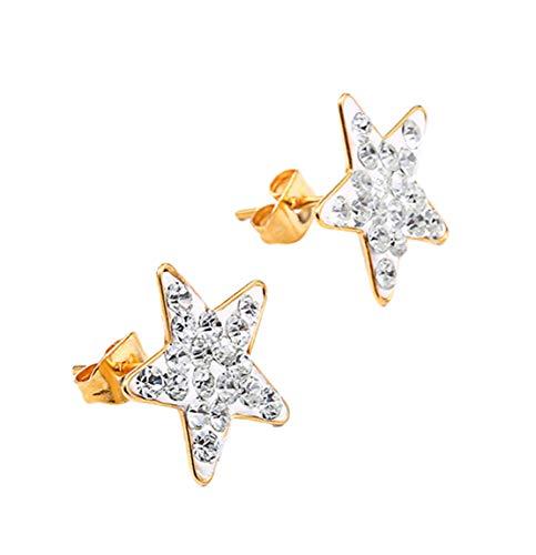 Yslin Pentagramm Ohrringe Einfach Ohrstecker Frau Modeschmuck Mode Baumeln Geschenk Für Frauen Fashion Earrings Edelstahl Eardrop Modeschmuck