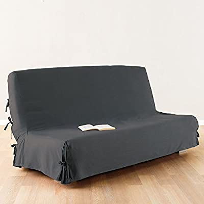 Sofa bed / Futon cover - 100 % cotton - colour DARK GREY
