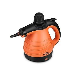 Dampfreiniger, SIMBR tragbar Dampfreiniger Hand mit 350ml Tank, 9 Zubehör für Küche, Bad, Auto, Fenster, Matratze, Vorhänge, Teppiche usw.