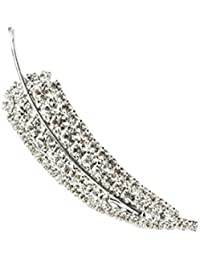 Broche y colgante de mujer crystal de Swarovski elegante plateado rodiato