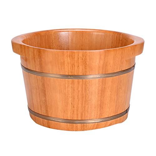 Maison Solide Pied En Bois Bain Tremper Lavabo Baignoire Pour Pied Massage Spa Sauna Bain Nature Hydro Massage Pied Bassin,Natural