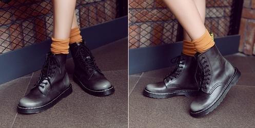 &ZHOU femmina adulti 'Boots autunno e l'inverno stivali brevi Martin stivali Cavaliere stivali A26 gray