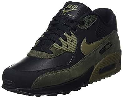 Nike Herren Air Max 90 Leather Gymnastikschuhe - Schwarz (Black/Medium Olive/Sequoia 014) , 40 EU