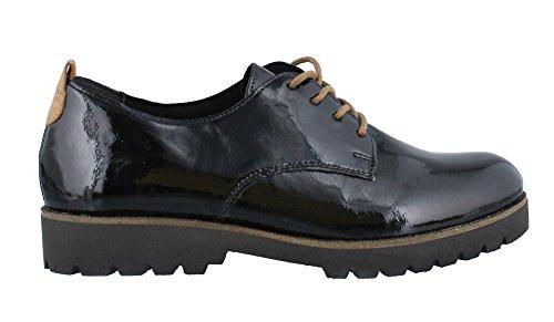 REMONTE - Damen Halbschuhe - Lack Schwarz Schuhe in Übergrößen Schwarz