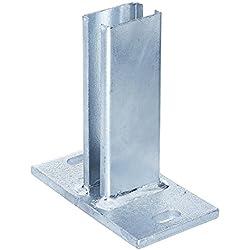 Gah-Alberts 685676 Pfostenträger für Zaunpfosten für Doppelstab-Gittermatten feuerverzinkt, zum Aufschrauben, 60 x 40 mm