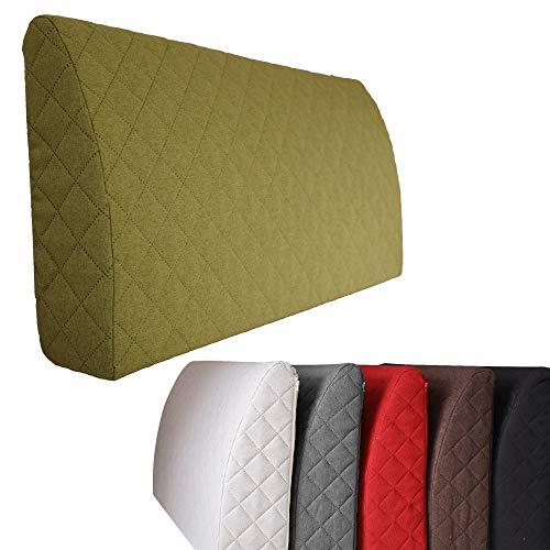 Sabeatex® Rückenlehne für Bett, Sofakissen, Rückenkissen für Lounge-oder Palettenmöbel in 5 trendigen Farben. Länge 90 cm, Höhe 45 cm Farbe: (Grün) -
