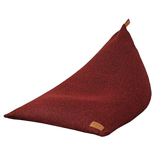 EVERAIE Wohnzimmer Stuhl, Toy Bag Floor Lounger für Kinder Teens und Adult-Storage Bean Bag Chair zum Entspannen Gaming Lounging (Farbe : Rot, Größe : 90 * 120 * 90cm) (Stühle Gaming Für Teen)