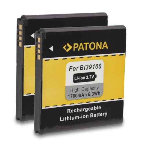 2x PATONA Batteria BA-S640 BI39100 per HTC Bass Bliss Bunyip Eternity Rhyme Runnymede Sensation XL Titan Titan II X310E X315 X315b X315E