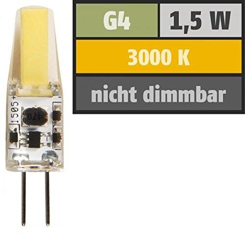 "Preisvergleich Produktbild LED-Stiftsockellampe McShine ""Silicia COB"",  G4,  1, 5W,  200 lm,  warmweiß"