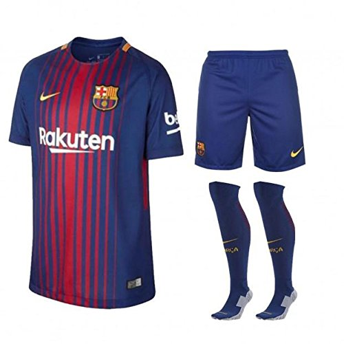 Barcelona Home Football Kit Complete Kit Shirt  Shorts   Socks Kids  Medium Boys 10-11 Years