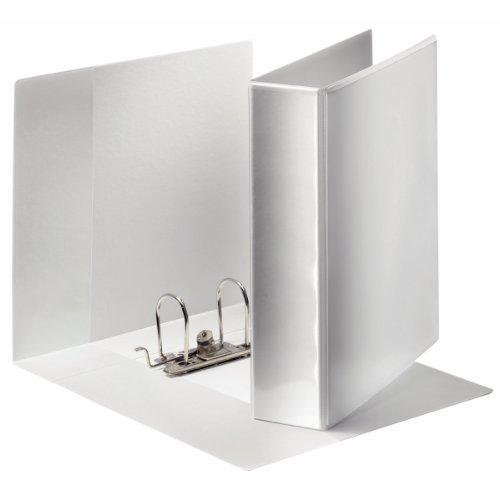 Esselte Panorama Ordner, Zur individuellen Gestaltung, 3 Außentaschen, A4, 8 cm Rückenbreite, Weiß, 19175