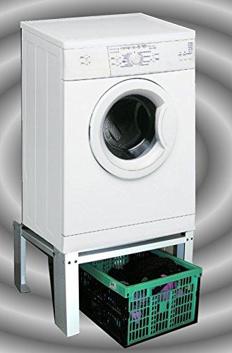 Waschmaschinen - Untergestell 60x50x30cm, 150 KG, Ausführung 1: offen, Marke: Szagato, Made in Germany (Sockel Podest Erhöhung für Waschmaschine + Trockner) (Unterbau-waschmaschine-trockner)