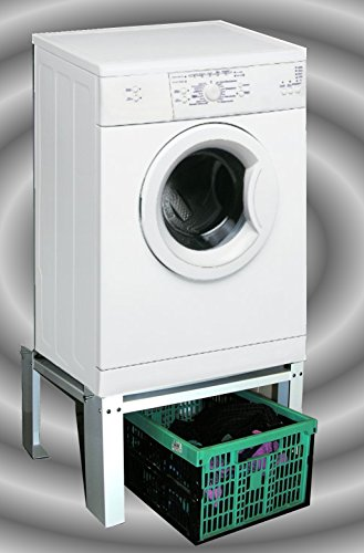 Waschmaschinen - Untergestell 60x50x30cm, 150 KG, Ausführung 1: offen, Marke: Szagato, Made in Germany (Sockel Podest Erhöhung für Waschmaschine + - Waschmaschine Sockel Trockner