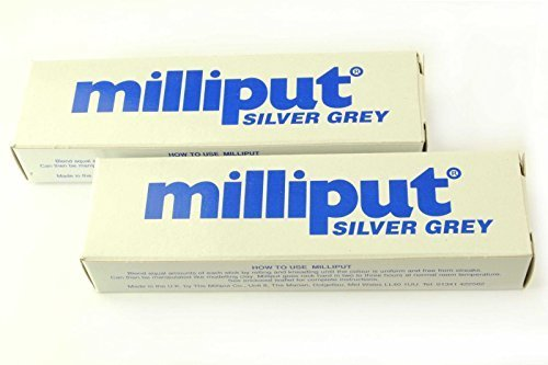 2-x-silver-grey-milliput-epoxy-putty-sculpting-modelling-ceramics-porcelain-free-uk-postage