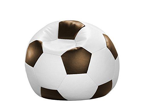 Cats Collection Fußball-Sitzball Kunstleder weiß/braun Ø 90 cm