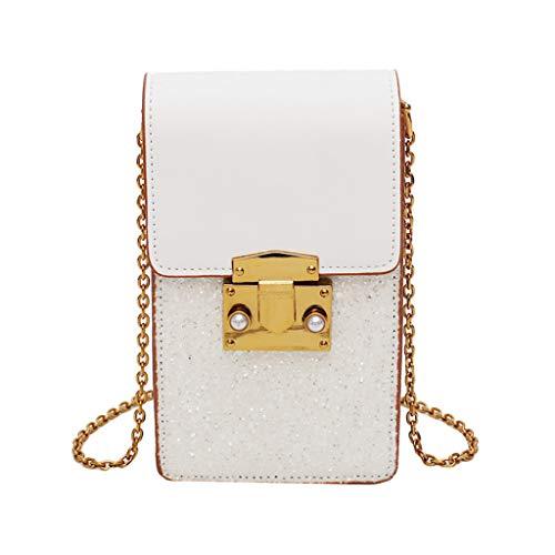 en Crossbody Umhängetaschen Geldbörse Messenger Bag Freizeit Kleine Tasche Lässige PU Handtasche Canvas Messenger Bag Rucksack Solid Schultertaschen Plus Größe Bag ()