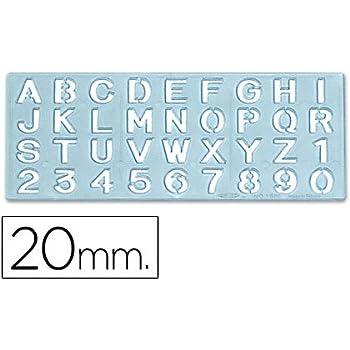 /pochoir enseigne lettres et num/éros de 10/mm CSP 1575/