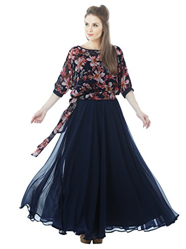 Just-Wow-Womens-Blue-Long-Gown