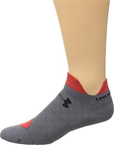 Under Armour Men's UA Run Launch Double Tab Graphite/Rocket Red/Black Socks MD 9-11 (Men's Shoe 4-8.5)