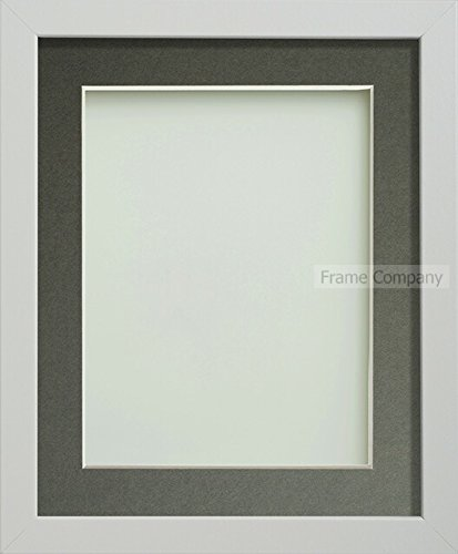 Frame Company Allington Range Bilderrahmen, holz, weiß, 10 x 8 Inches mounted for 8 x 6 Inches image