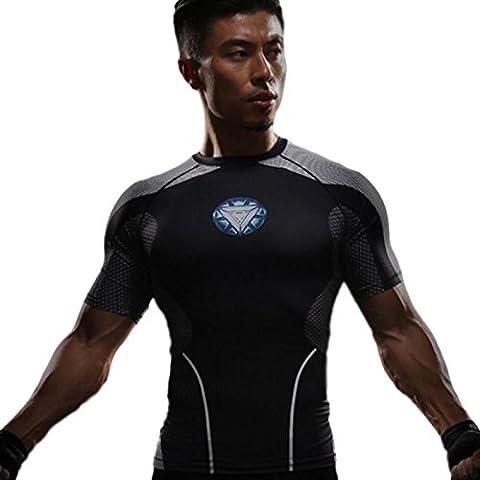 Iron Man Hot Toy V2 T-Shirt Armor (Mann) Size S