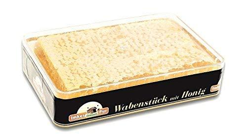 ImkerPur® Wabenstück in hocharomatischem Akazien-Honig (Jahrgang 2018), 4er-Set, jeweils 400 g (gesamt 1600g), in hochwertiger, lebensmittelechter Frische-Box