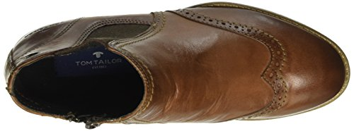 TOM TAILOR Damen 1692202 Chelsea Boots Braun (Cognac)