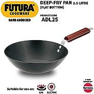Futura Hard Anodised Deep-Fry Pan 2.5 L, 26 cm, 4.06 mm (L20) (HWS_L20_BLK Black)