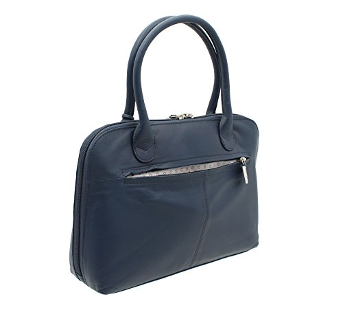 Mala Leder Lucy Collection Handtasche aus weichem Leder mit Schultergurt 750_ 30, grau (Grau) - 750_30 Dunkelblau