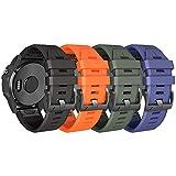 NotoCity Bracelet Fenix 5X avec Fermoir à Ressort, 26 mm Bracelet en Silicone à Ajustement Facile Compatible Garmin Fenix 5X / Fenix 5X Plus/Fenix 3 / Fenix 3 HR/Fenix 6X/Fenix 6X Pro