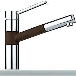 Franke 350 Chocolate - Rubinetto in Fragranite con miscelatore e doccetta estraibile, colore: Marrone