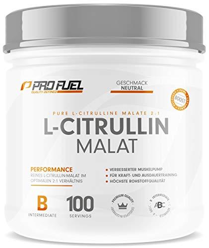 L Citrullin Malat Pulver 2:1 | Hochdosiert & Rein Made in Germany | Pump Booster | 100{dcbcd523b496479284510c7c6b2cd34c61a1d8783bac9a89d4a76dae8937b51f} vegan - 300g