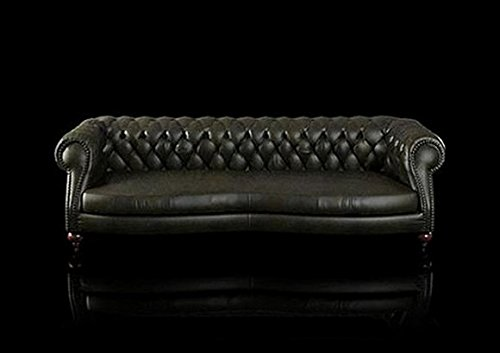 Ledersofa Chesterfield BIG Sofa Charly XXL Polster Garnitur CHARLY 300cm - 4