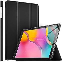 ELTD Coque Housse Étui pour Samsung Galaxy Tab A T515/T510 10.1 2019, Smart Cover Housse Etui Cuir Coque avec Support pour Samsung Galaxy Tab A T515/T510 10.1 2019 Tablette, Noir