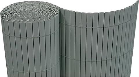 PVC Sichtschutzmatte 120x300 cm grau
