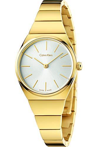 Calvin Klein Damen Analog Quarz Uhr mit Edelstahl Armband K6C23546