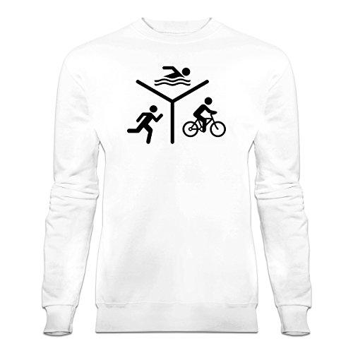 Shirtcity Triathlon Silhouette Logo Sweatshirt by