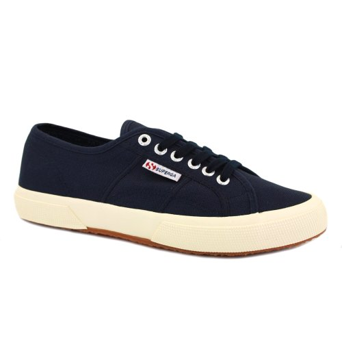 Superga 2750 Cotu Classic Unisex Laced Canvas Trainers Navy - 8