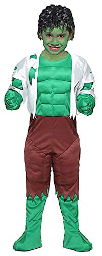 KOSTÜM FASCHING KARNEVAL GREEN MONSTER BABY für KARNAVALKOSTÜME fancy dress halloween cosplay veneziano party 28016 Size 5 (Kostüm Monster Green)
