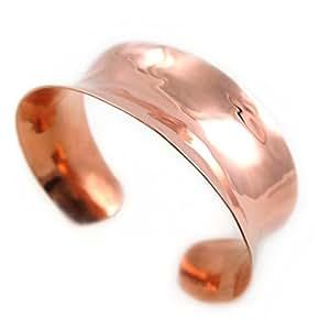Large Polished Solid Copper Bracelet Cuff