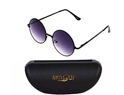 Amour Round Sunglasses for Men and Women (Unisex) {SKU-50}