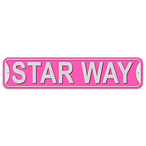 Star Sign–Kunststoff Wand Tür Street Road weiblich Name, plastik, rose, Way (Star Street Sign)