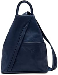 Benagio Super Soft Italian Leather Rucksack & Shoulder Bag Backpack