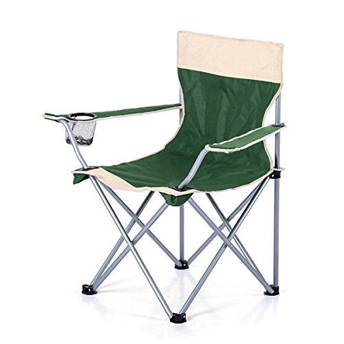 LDFN Klappstuhl Von Outdoor Tragbare Strandkorb Malerei Stuhl Stuhl Rückenlehne Fischenstuhl Hocker,Green-80*50*80cm