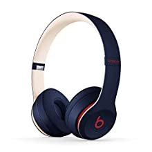 Beats Solo3 Wireless On-Ear Headphones - Apple W1 Headphone Chip, Class 1 Bluetooth, 40 Hours Of Listening Time - Club Navy (Previous Model)