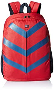 Tommy Hilfiger Delta Polyester 16 Ltrs Red Laptop Backpack (8903496078626)