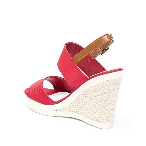 Ideal Shoes ,  Sandali donna Rosso