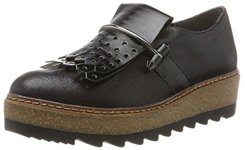 Tamaris Damen 24712 Slipper, Schwarz (Black), 36 EU (Schwarze Canvas-loafer)