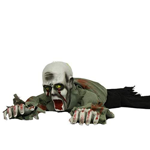 Haunted Doll Bewegender Körper, Gruselige Friedhofs Heulen, Elektronisches Krabbel Licht Sensored, Skelett Blutig Gehakt, Batteriebetrieben, 110 * 30 cm